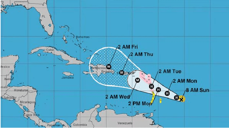 Huracán María es categoría 2 y se dirige a las Islas del Caribe