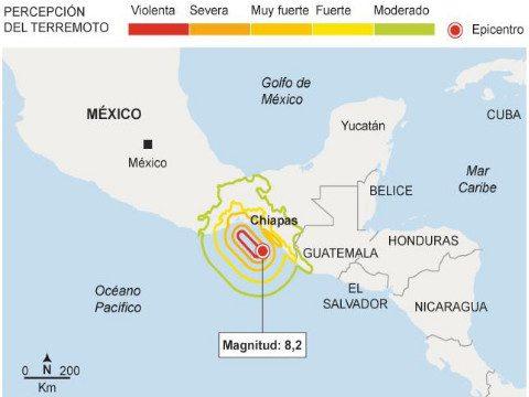 Terremoto en México deja al menos 25 muertos