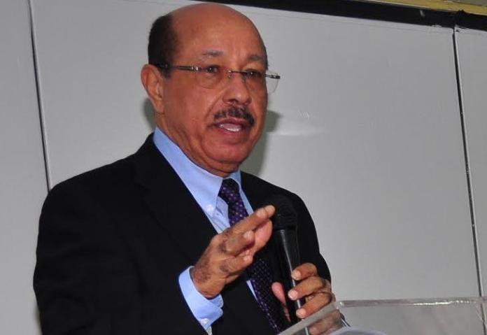 Presidente del PLD, Temístoclés Montás, habla frente a público