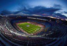 Vista aérea del Estadio de fútbol Camp Nou