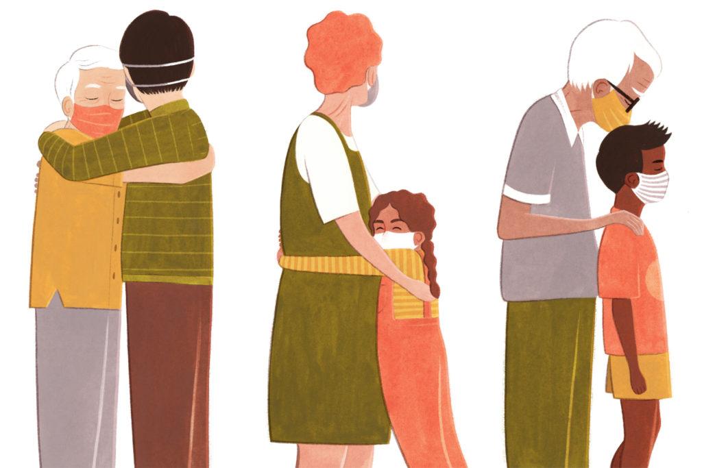 Cómo abrazarse durante una pandemia – N Dactilar