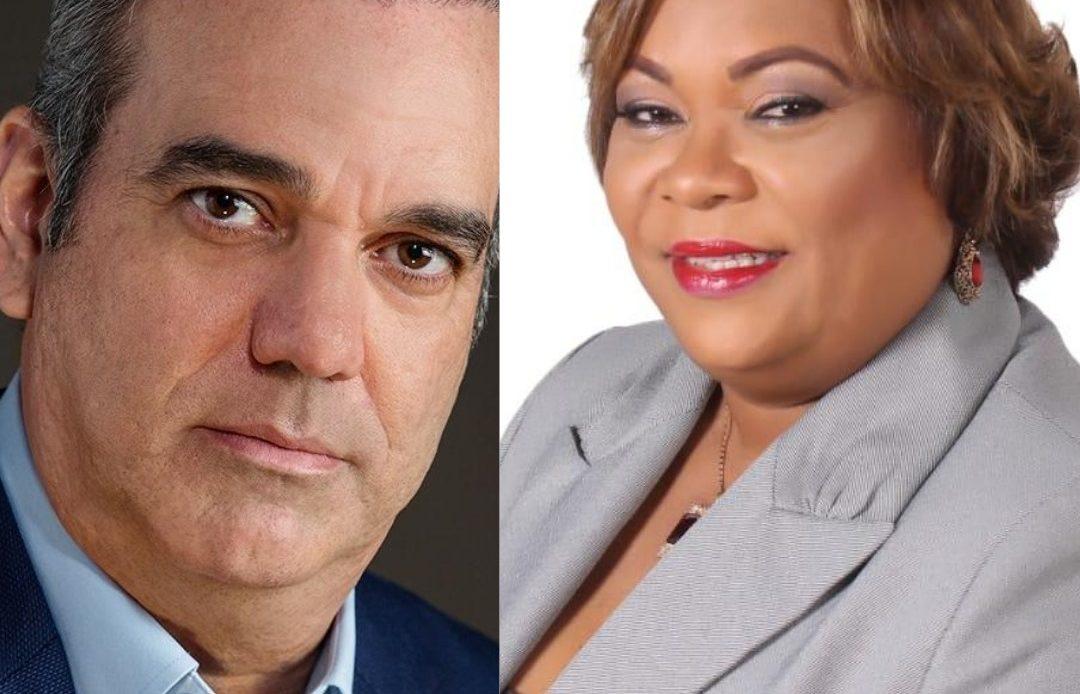 Luis Abinader y Lucrecia Leyba