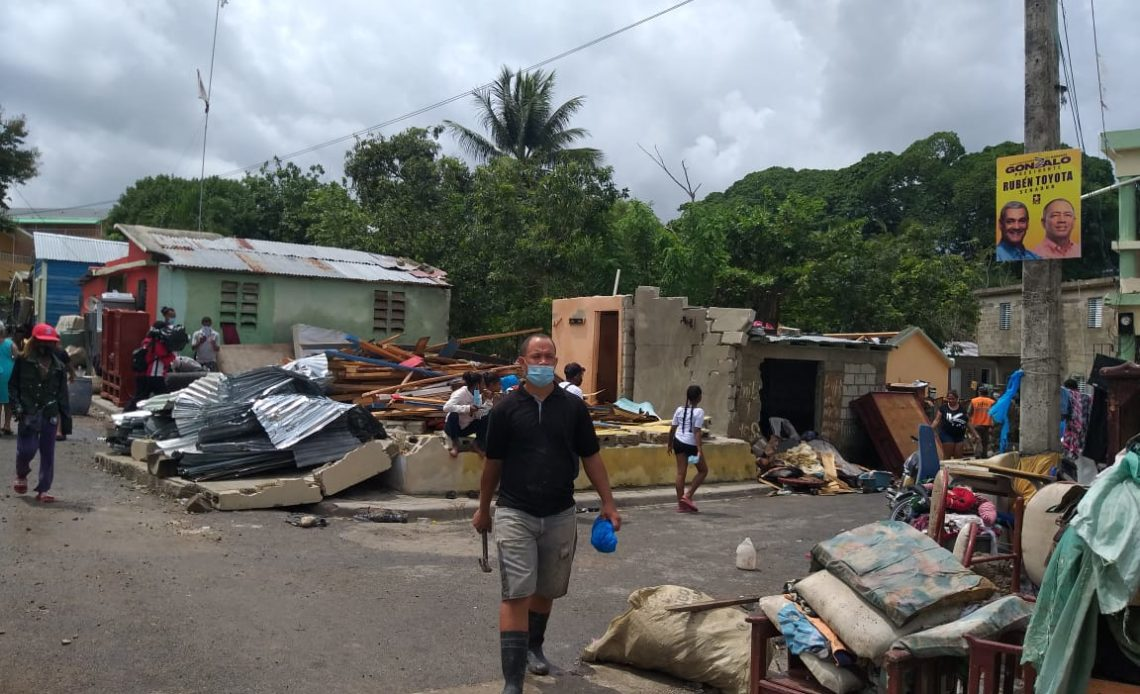 Hato Mayor, provincia afectada por la tormenta tropical Isaías.