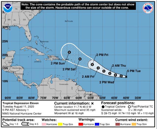 Depresión tropical 11