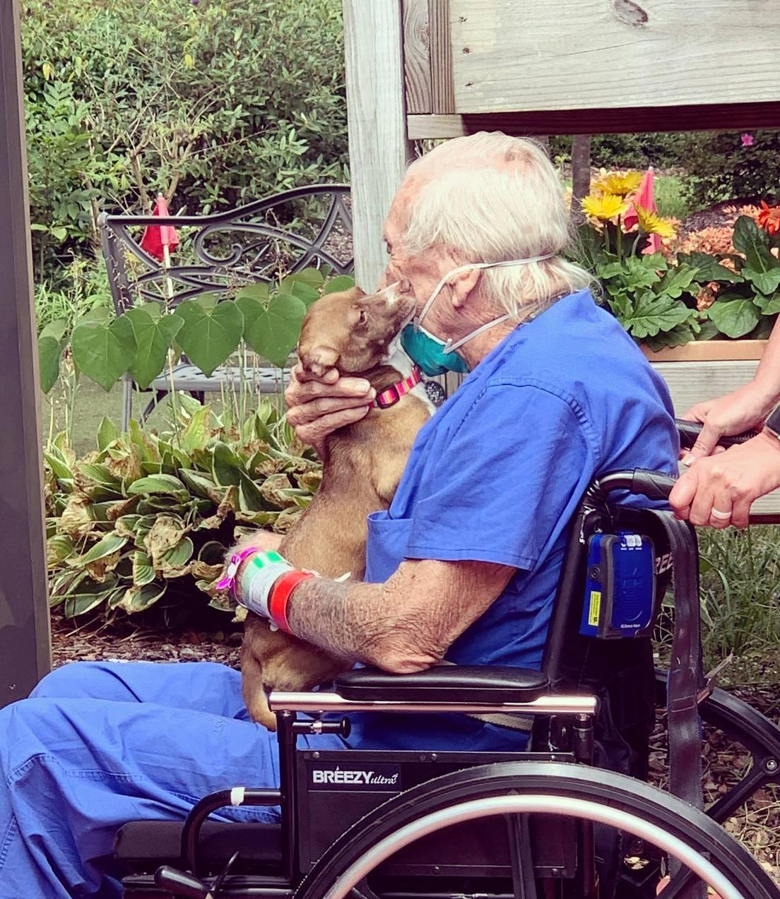 El pasado viernes el anciano se reencontró con su mascota.