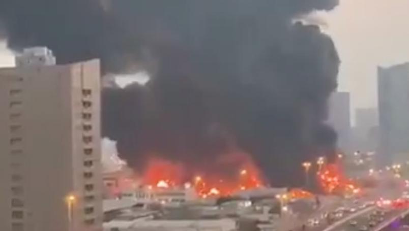 Incendio-Emiratos Arabe