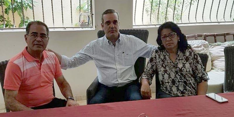 Néstor Julio Cruz Pichardo, Luis Abinader y Ana Adalgisa del Carmen Abreu Polanco