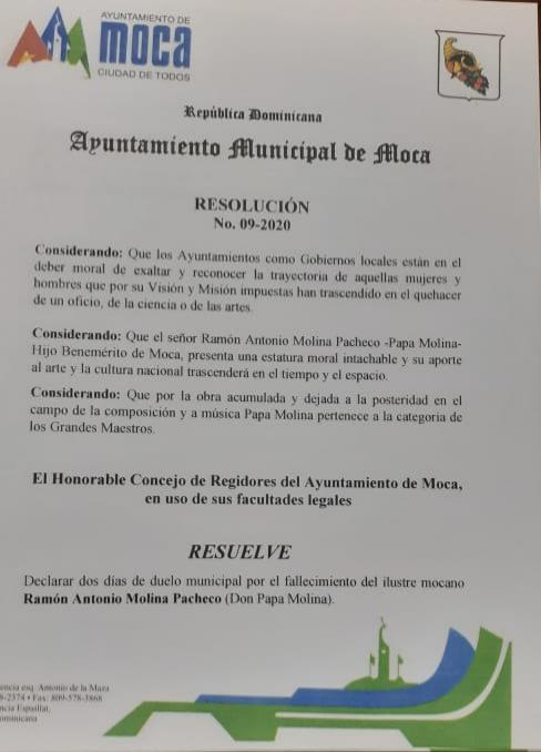 Resolución MOCA