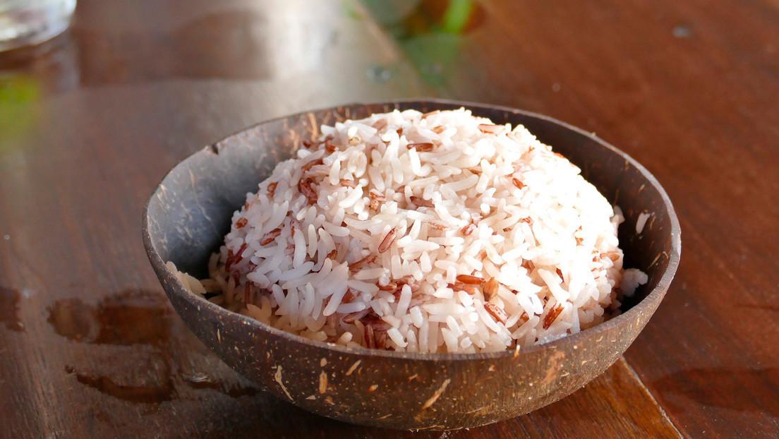 Tasa con arroz