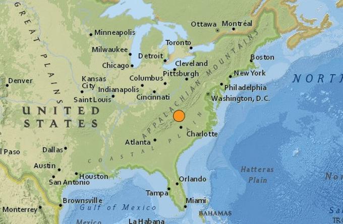 Terremoto de 5,1 grados afecta el sureste de Estados Unidos. Foto EFE,