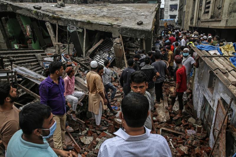 Derrumbe en la India