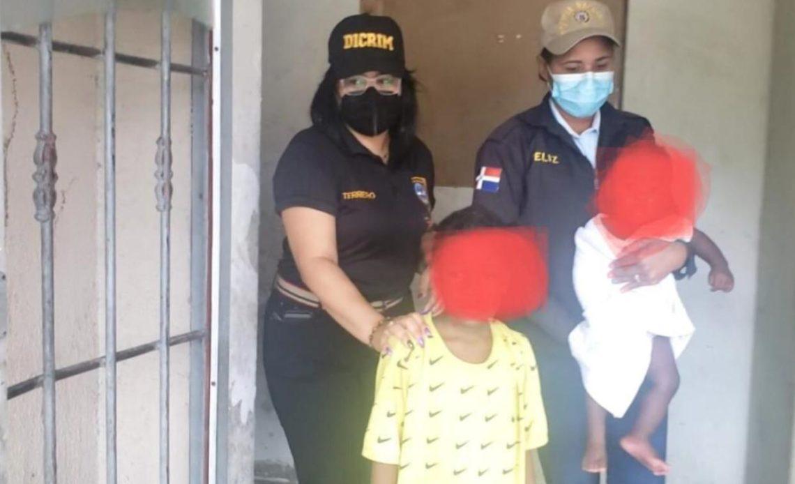 Rescate de menores de edad en Gazcue