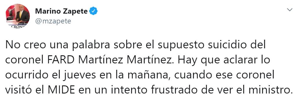 Tweet Marino Zapete