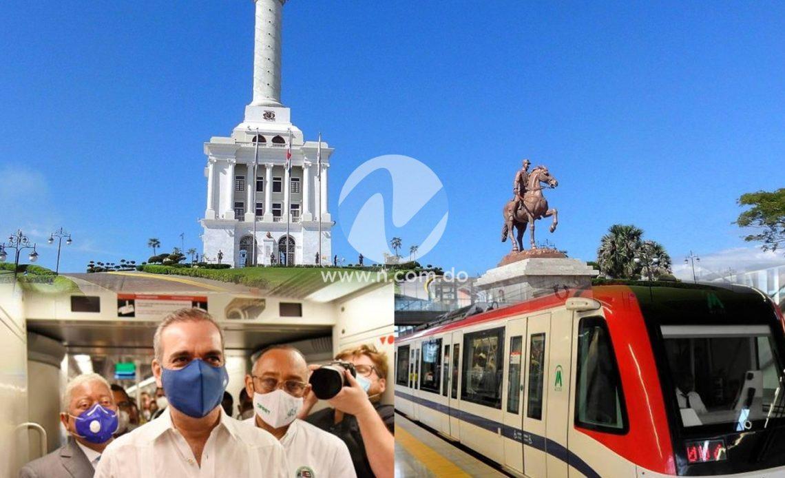Abinader y el metro de Santiago