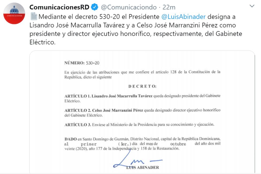 Decreto Luis Abinader