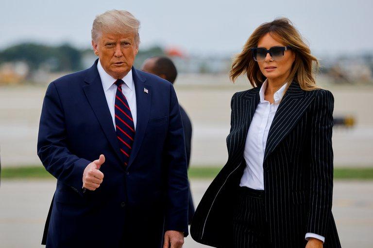 Donald Trump y la Primera dama de los Estados Unidos