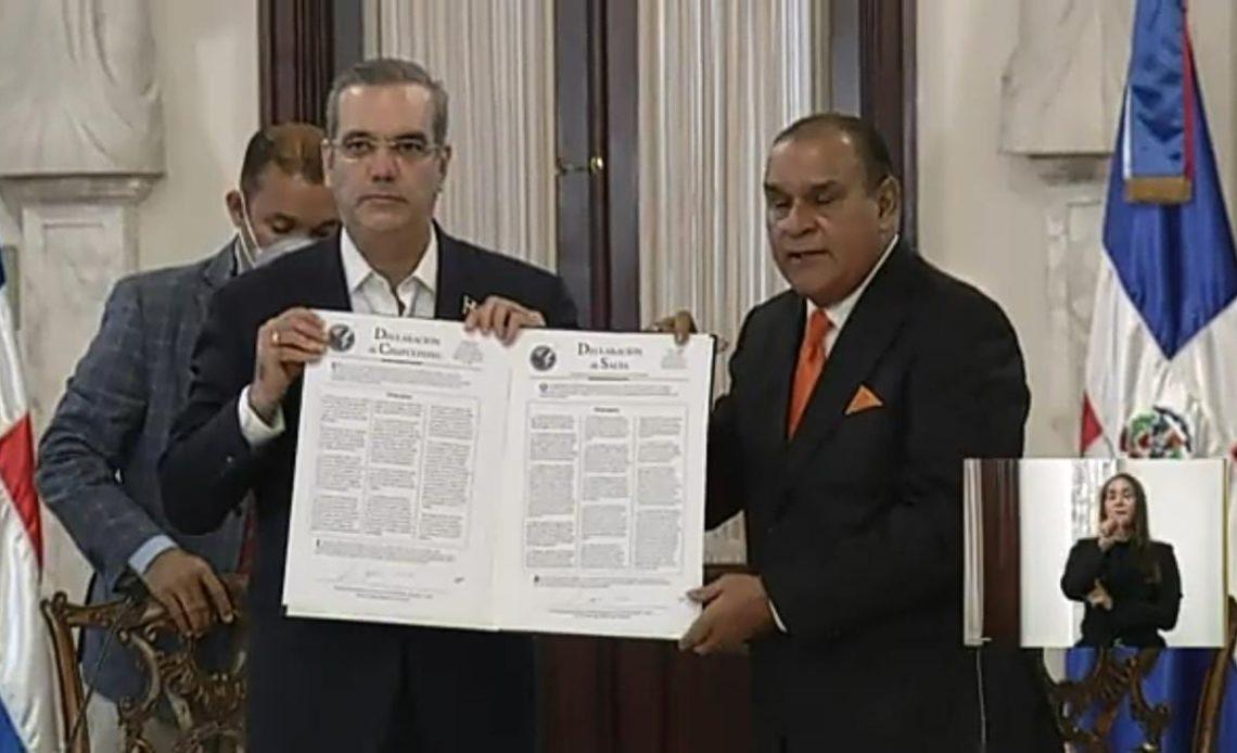 Luis Abinader, declaracción de Chapultepec