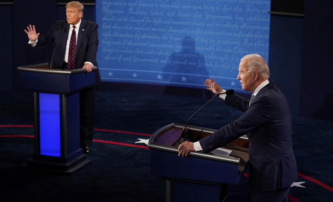 Primer debate entre Trump y Biden
