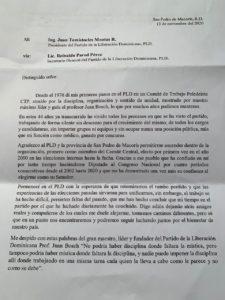 Carta Franklin Peña.