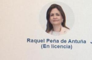 Raquel Peña, en licencia.
