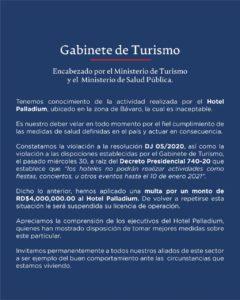 Gabinete de Turismo.