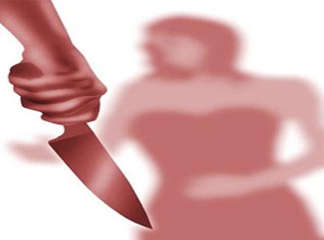 Imagen ilustrativa de un hombre apuñalando a una mujer