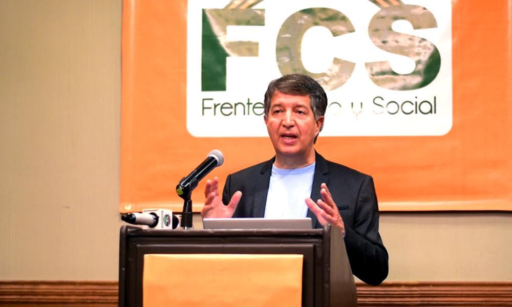 El presidente del Frente Cívico y Social (FCS), Isaías Ramos