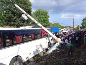 Accidente en Baní.