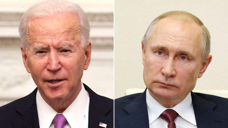 Biden y Putin.