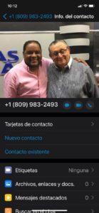 Contacto de quien dice ser amigo de Dary Terrero.