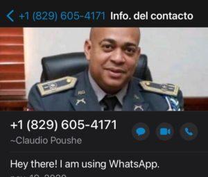 Contacto con imagen de un coronel.