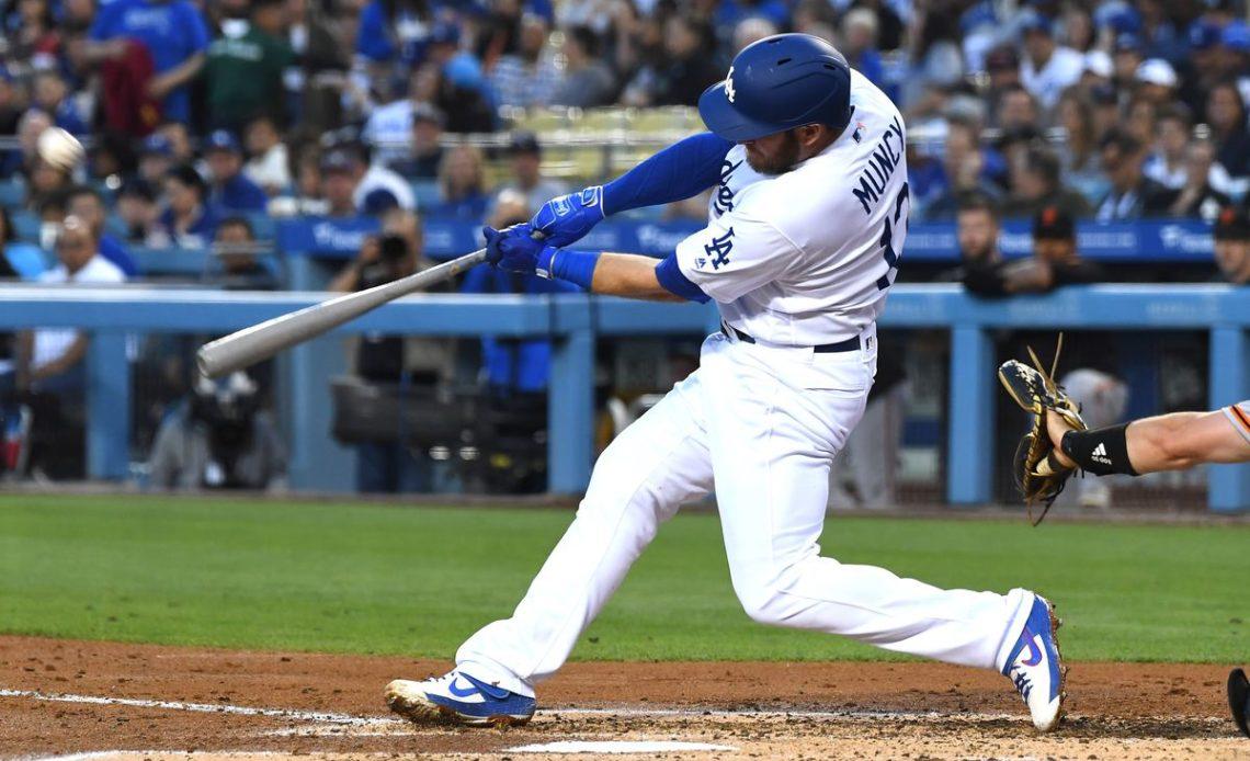 Max Muncy, pelotero de los Dodgers de Los Ángeles