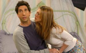 """serie """"Friends"""", donde interpretaron a la mítica pareja de Rachel y Ross,"""