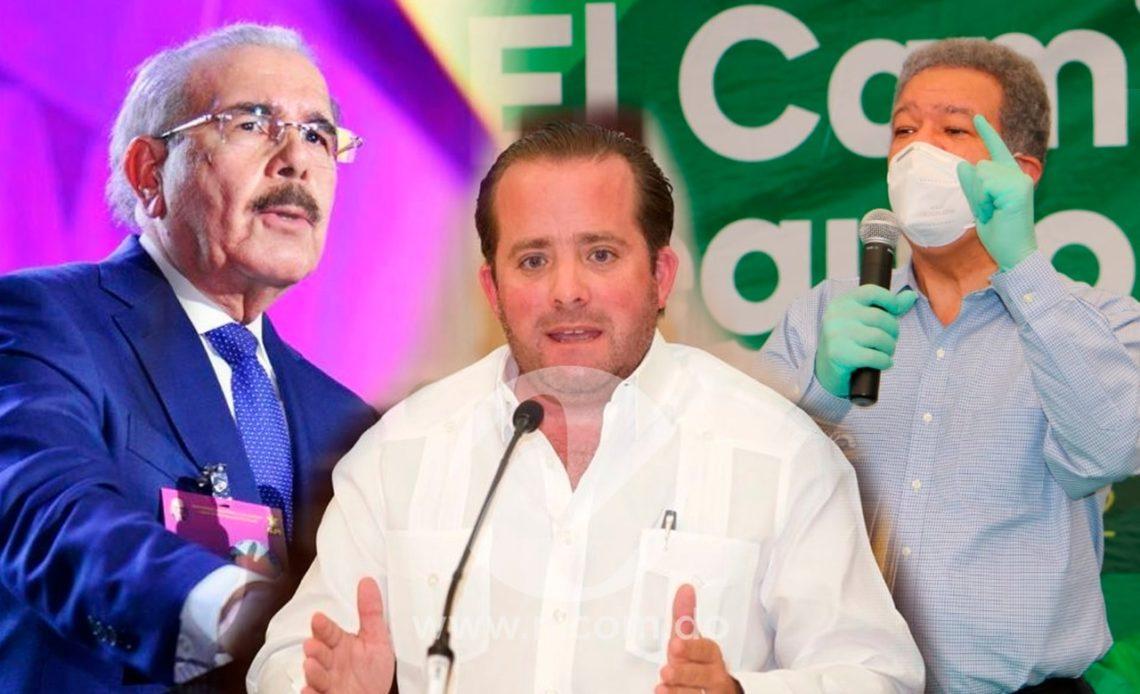 José Ignacio Paliza, Leonel Fernández y Danilo Medina
