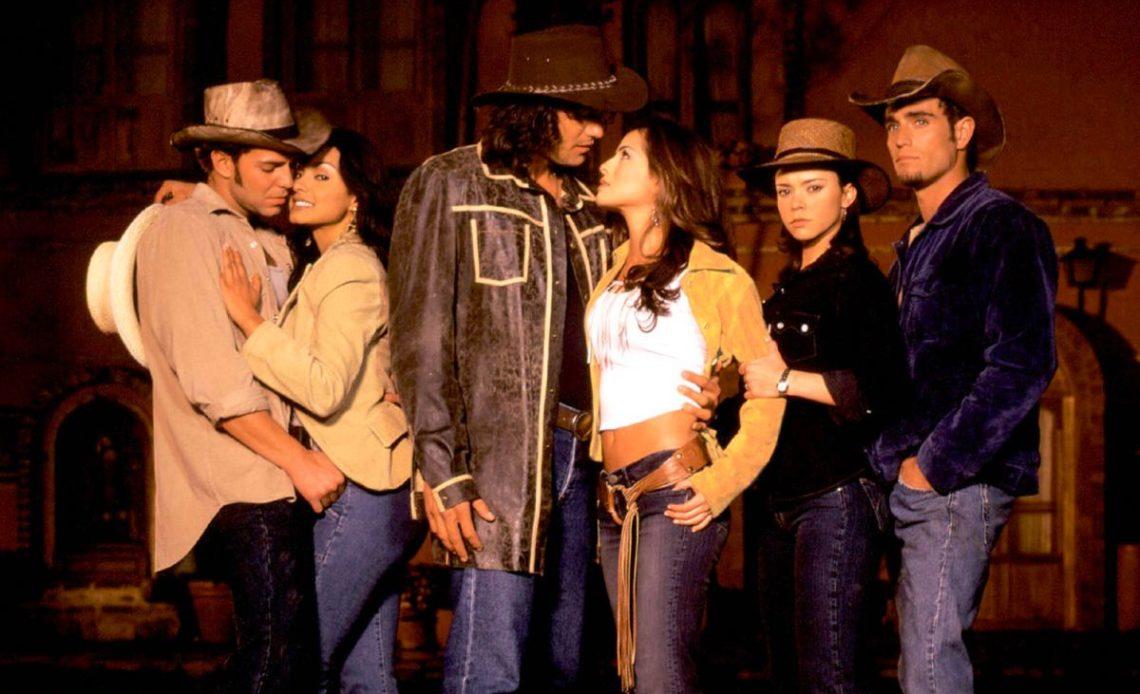 Natasha Klauss, Michel Brown, Danna García, Mario Cimarro, Paola Rey, 'el Gato' Baptista, en 'Pasión de gavilanes',