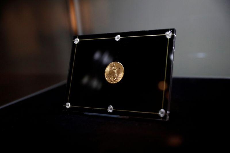 Una moneda de oro estadounidense se subasta a un récord de USD 18,87 millones en Nueva York