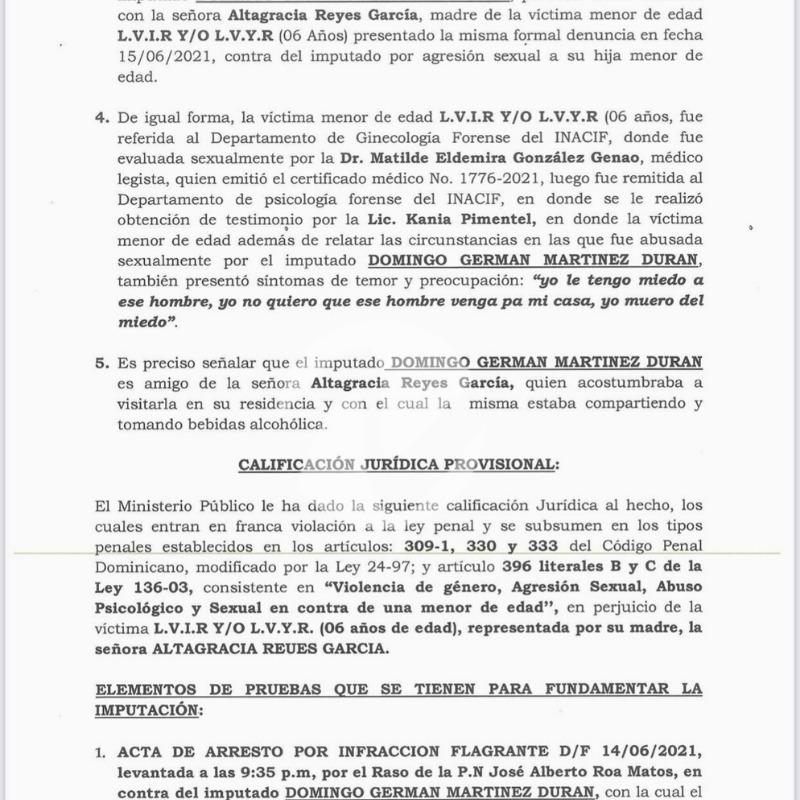 Acusan hermano de Abel Martínez de abuso sexual contra niña de seis
