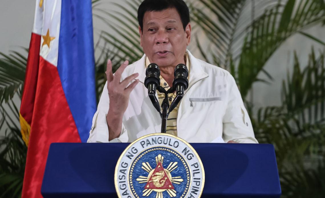 Presidente filipino Rodrigo Duterte.