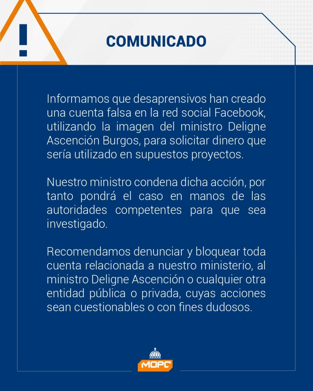 Comunicado MOPC